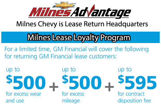 Gm Financial Lease >> Return Your Lease To Milnes Chevy And Get This Perk