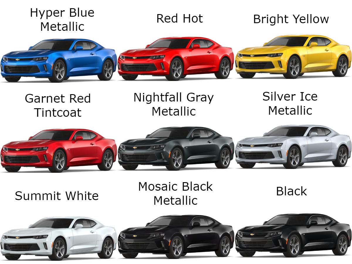 The 2018 Chevrolet Camaro Exterior Color Options Robbins Chevy