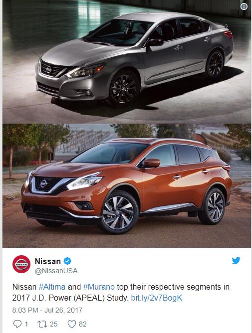Valley Nissan | Nissan Murano & Nissan Maxima Win Their ...